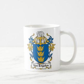 Escudo de Van Engelen Family Tazas De Café