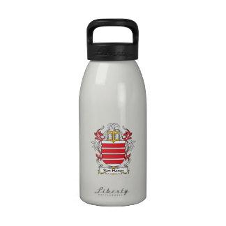Escudo de Van Haren Family Botellas De Agua Reutilizables