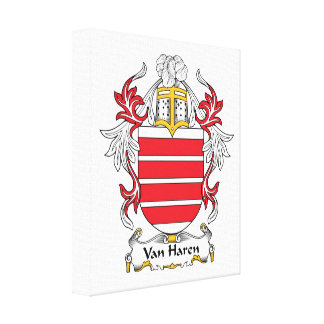 Escudo de Van Haren Family Impresiones En Lienzo Estiradas