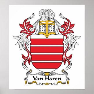 Escudo de Van Haren Family Impresiones