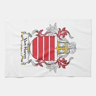 Escudo de Van Haren Family Toalla De Cocina