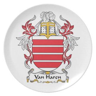 Escudo de Van Haren Family Platos