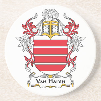 Escudo de Van Haren Family Posavasos Diseño