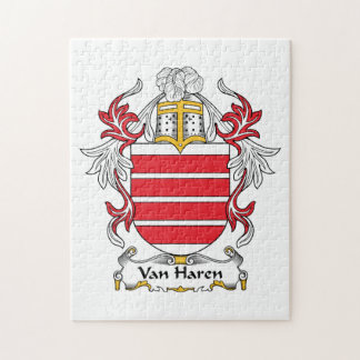 Escudo de Van Haren Family Rompecabezas