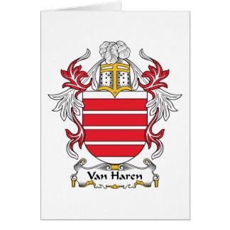 Escudo de Van Haren Family Felicitacion