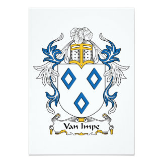 "Escudo de Van Impe Family Invitación 5"" X 7"""