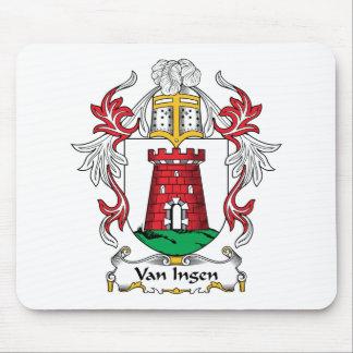Escudo de Van Ingen Family Tapetes De Ratón