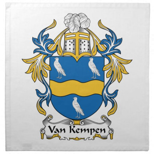 Escudo de Van Kempen Family Servilletas De Papel