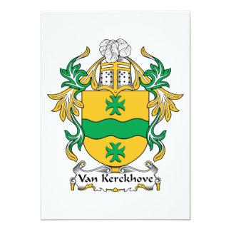"""Escudo de Van Kerckhove Family Invitación 5"""" X 7"""""""