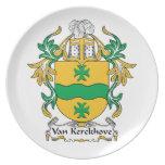 Escudo de Van Kerckhove Family Platos Para Fiestas