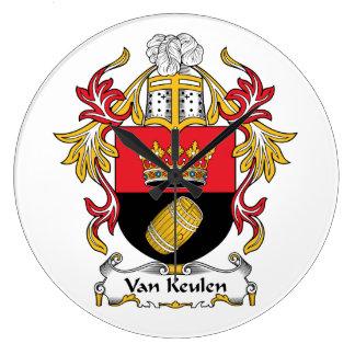 Escudo de Van Keulen Family Relojes De Pared