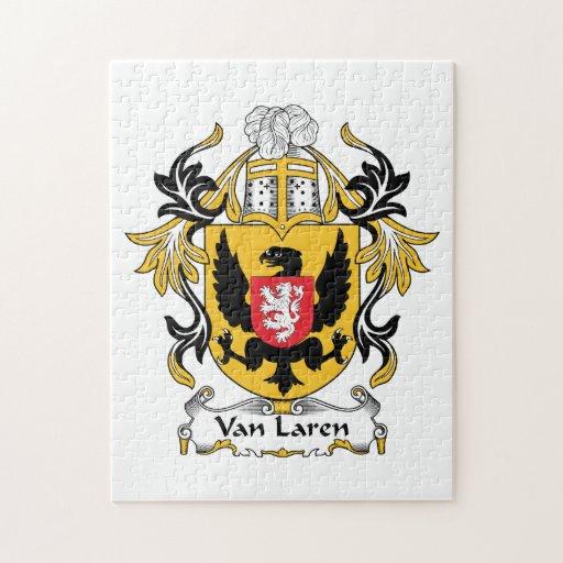 Escudo de Van Laren Family Rompecabezas Con Fotos