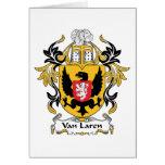 Escudo de Van Laren Family Tarjetas