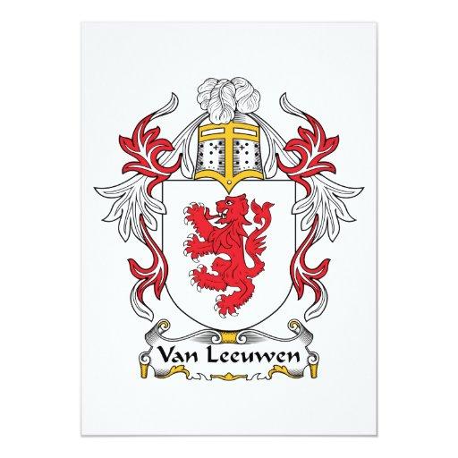Escudo de Van Leeuwen Family Comunicados