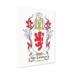 Escudo de Van Leeuwen Family Impresión En Lona