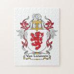 Escudo de Van Leeuwen Family Puzzle