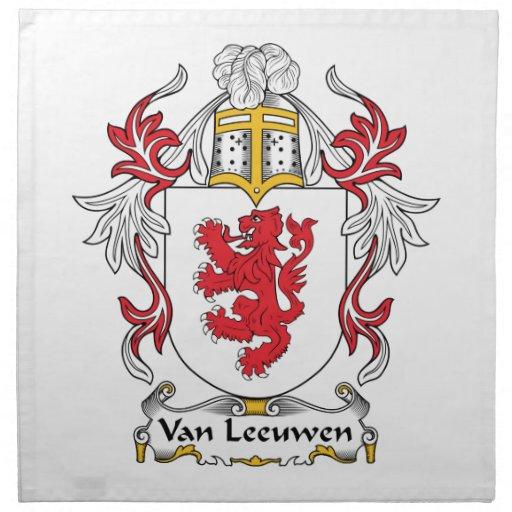 Escudo de Van Leeuwen Family Servilletas De Papel