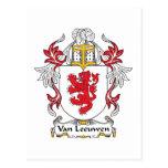 Escudo de Van Leeuwen Family Tarjetas Postales