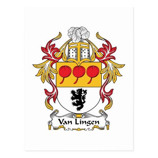 Escudo de Van Lingen Family Tarjetas Postales