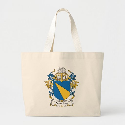 Escudo de Van Loo Family Bolsa Lienzo