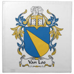 Escudo de Van Loo Family Servilletas De Papel