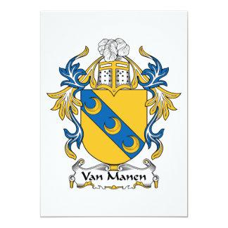 Escudo de Van Manen Family Invitación 12,7 X 17,8 Cm