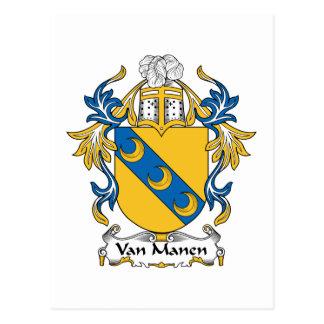 Escudo de Van Manen Family Tarjetas Postales