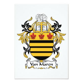 "Escudo de Van Maren Family Invitación 5"" X 7"""