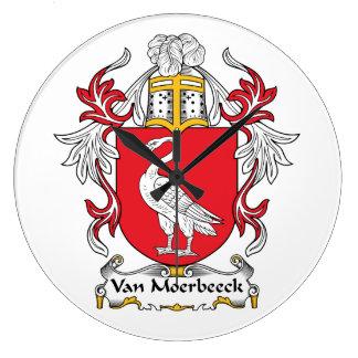 Escudo de Van Moerbeeck Family Reloj De Pared