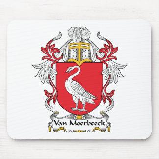 Escudo de Van Moerbeeck Family Alfombrillas De Raton