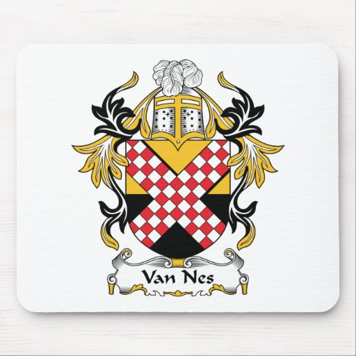 Escudo de Van Nes Family Alfombrilla De Ratones