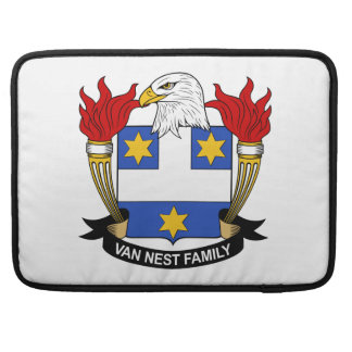 Escudo de Van Nest Family Fundas Para Macbook Pro