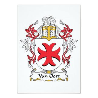 """Escudo de Van Oort Family Invitación 5"""" X 7"""""""