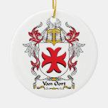 Escudo de Van Oort Family Ornamente De Reyes