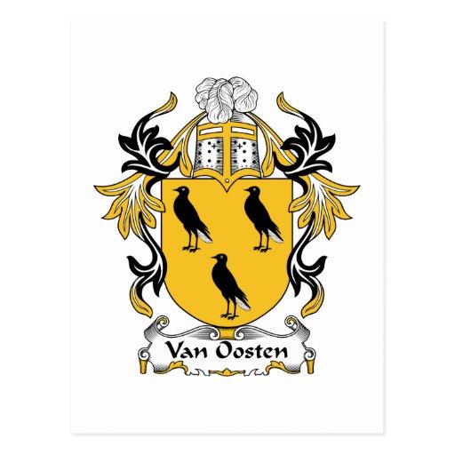 Escudo de Van Oosten Family Postales