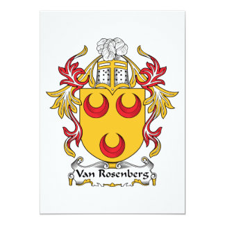 """Escudo de Van Rosenberg Family Invitación 5"""" X 7"""""""