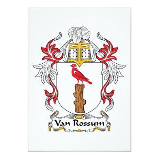 """Escudo de Van Rossum Family Invitación 5"""" X 7"""""""