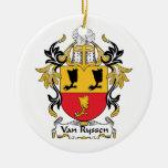 Escudo de Van Ryssen Family Ornamento Para Arbol De Navidad