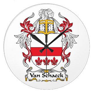 Escudo de Van Schaeck Family Reloj De Pared
