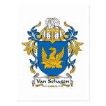 Escudo de Van Schagen Family Postal