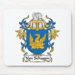Escudo de Van Schagen Family Tapete De Ratón