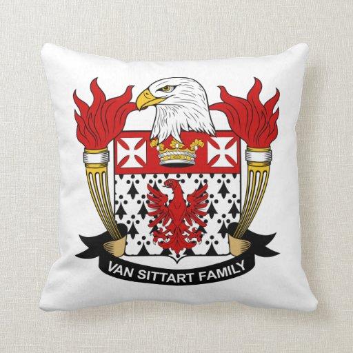 Escudo de Van Sittart Family Almohadas