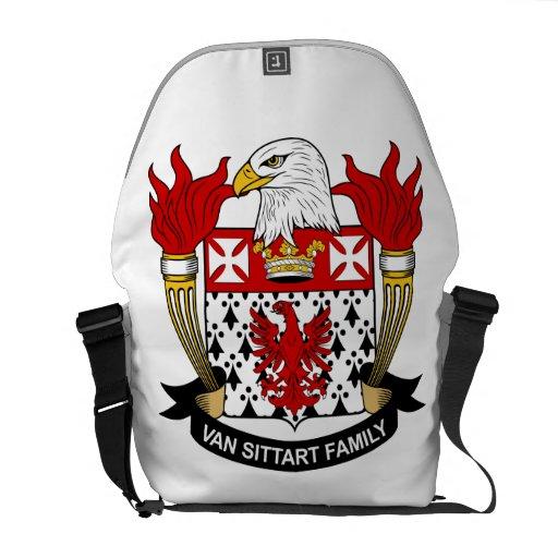 Escudo de Van Sittart Family Bolsa De Mensajería