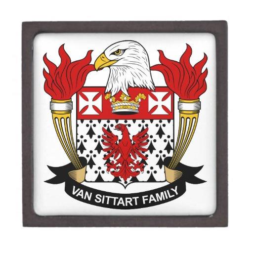Escudo de Van Sittart Family Cajas De Regalo De Calidad
