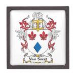 Escudo de Van Soest Family Cajas De Recuerdo De Calidad