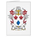 Escudo de Van Soest Family Tarjeta