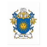 Escudo de Van Son Family Postal
