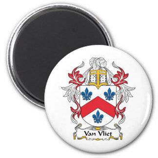 Escudo de Van Vliet Family Imán Redondo 5 Cm