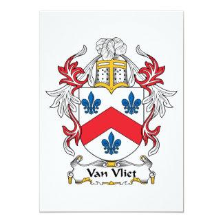 """Escudo de Van Vliet Family Invitación 5"""" X 7"""""""