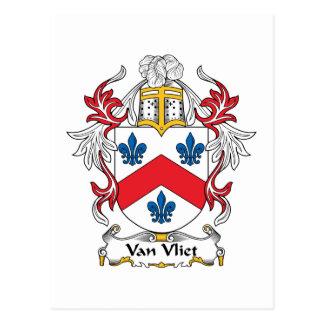 Escudo de Van Vliet Family Tarjeta Postal